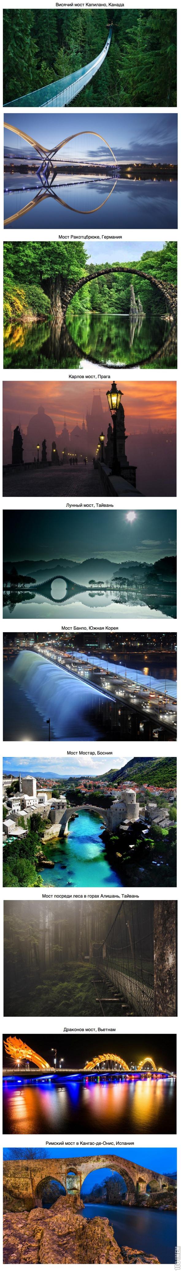10 удивительных мостов