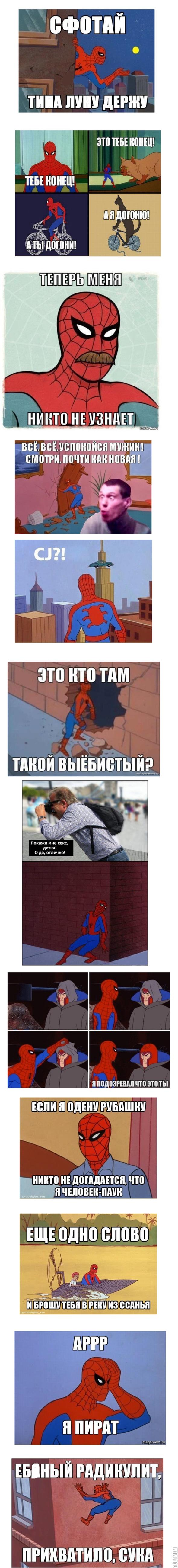 Приколы про человека паука