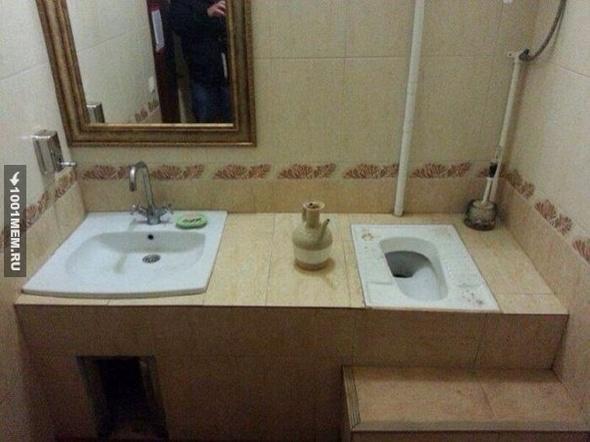 Сидите-сидите, мне только руки помыть...